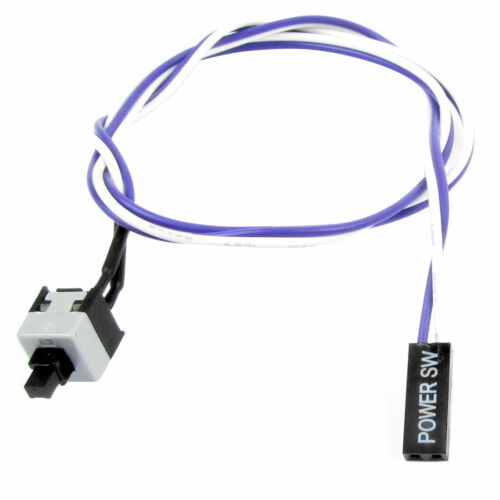 50cm Long Purple White Flexible Power Switch Button Cable for PC Computer