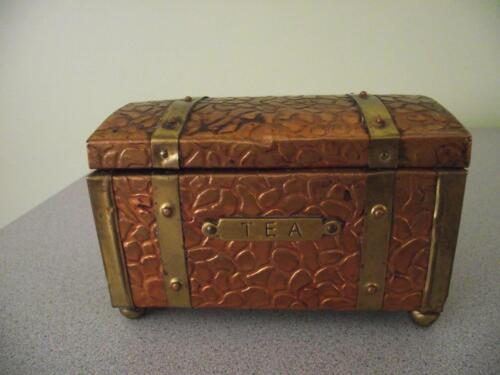 Vintage Copper and Brass Tea Caddy