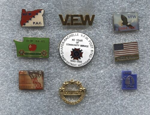US VETERANS OF FOREIGN WARS LIFE MEMBER PATCH MEASURES 4 1//2 X 3 5//8 INCHES