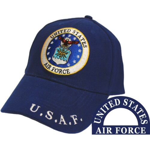 United States Air Force Eagle Logo Blue Hat U.S.A.F. CapAir Force - 66528