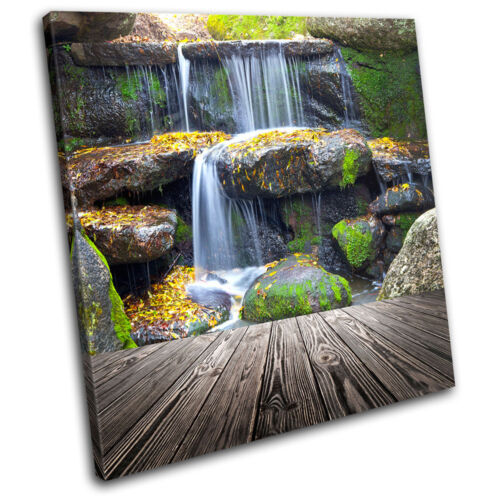 Waterfall Landscapes SINGLE CANVAS WALL ART Picture Print VA