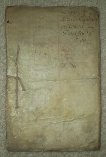VERY RARE, INDENTURE TRIPARTITE, 35 PAGE MANUSCRIPT, 1706, EDWIN SADLEIR, VELLUM
