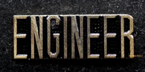 ENGINEER SCRIPT HAT LAPEL PIN US ARMY MARINES AIR FORCE NAVY TRAIN AIRCRAFT GIFTOther Militaria (Date Unknown) - 66534
