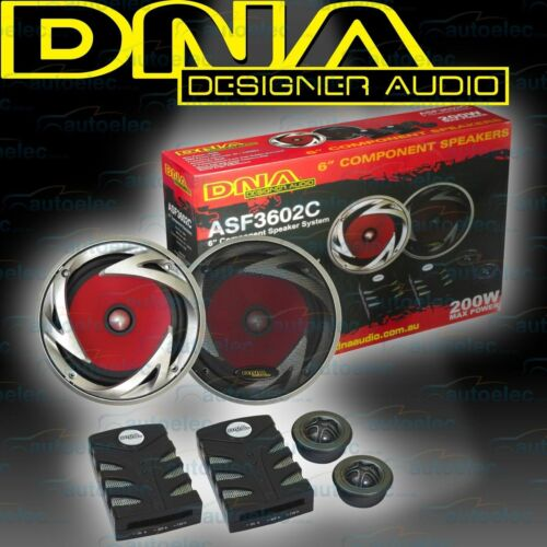 """DNA Car Audio Stereo System Componant Speakers Set 152mm 6"""" 2Way ASF3602C"""