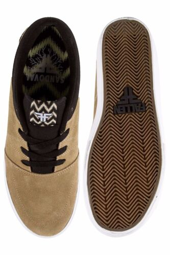 FALLEN Shoes Roots Cream Black Sandoval FREE POST New Skateboard Sneakers