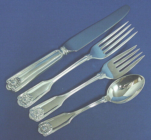 FIDDLE SHELL - FRANK SMITH TOWLE 4 PC STERLING PLACE SETTING(S) *FRENCH BLADE*