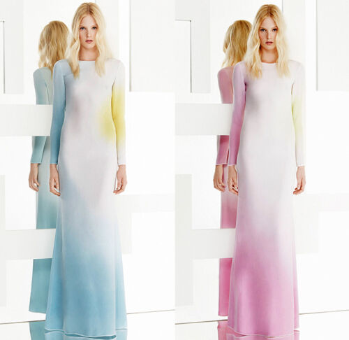 Emilio Pucci Multicolour Ombre Resort 15 Gown Long Silk Dress BNWT 8 IT 40