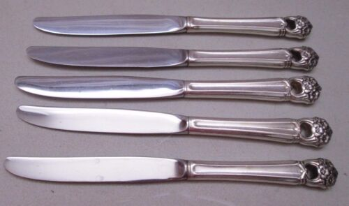 ETERNALLY YOURS International Silver Silverware Lot of 5 Dinner Knives Knife