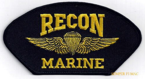 RECON JUMP WING PATCH US MARINES ANGLICO WING HAT PIN GUNNEY HIGHWAY PARACHUTEMarine Corps - 66531