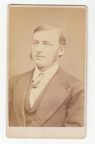[60485] 1880's CDV PHOTOGRAPH MAN WITH SIDEBURNS (CRITCHERSON: WORCESTER, MASS.)