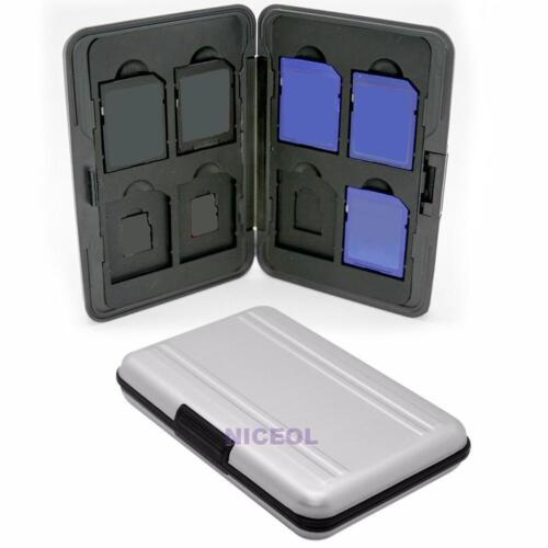 Aluminum Storage Carrying Case Holder Protector For 8 Micro SD SDHC Memory Card