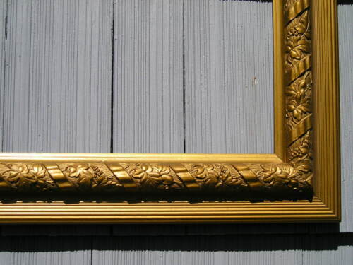 Antique Aesthetic Eastlake Victorian Gold Ribbon Swirl Picture Frame 14 x 26
