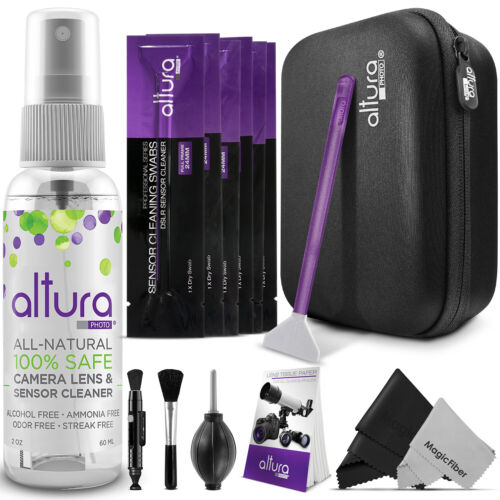 Camera, Lens, LCD & Sensor Cleaning Kit for Full Frame CCD/CMOS by Altura Photo® <br/> U.S. Brand / High Quality Swabs / FREE MagicFiber Cloth