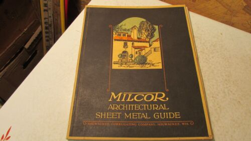 1924 Milcor Sheet Metal guide Cat. No. 24A