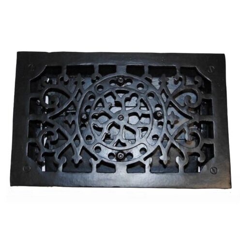 Rectangular Cast Iron Floor Register Heat Grate Antique Replica Louvered Heating