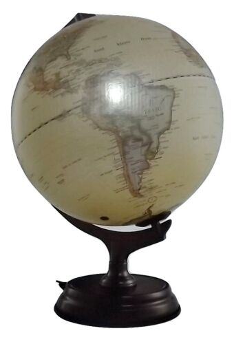 "NEW BERKSHIRE 12"" LIGHTED ANTIQUE POLITICAL BOUNDARY WORLD GLOBE"