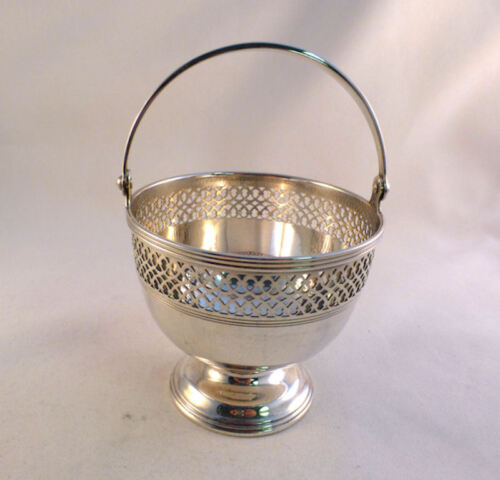 "Tiffany Sterling Reticulated Basket-3 1/4"" Tall"