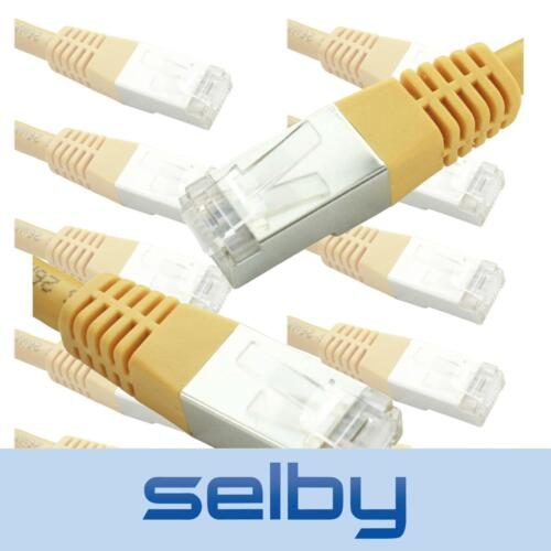 10 Pack 30cm Yellow CAT6 Cable RCM Certified SFTP Network Ethernet Patch Lead