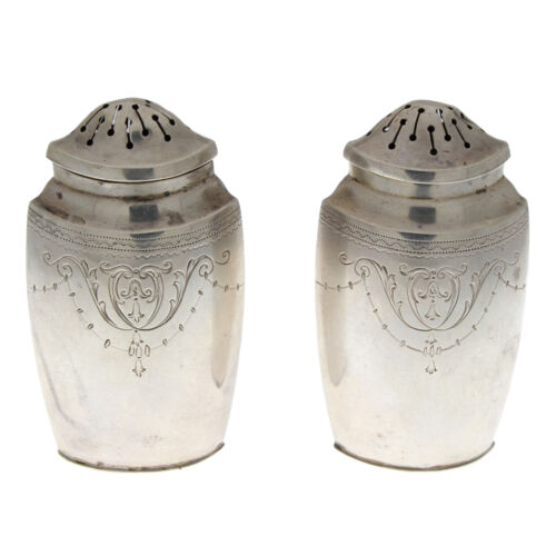 Colonial Revival R. Wallace Sterling Silver Salt & Pepper Shakers