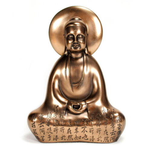 BUDDHA HEART DIAMOND STATUE Bronze Resin Shakyamuni HIGH QUALITY Buddhist NEW