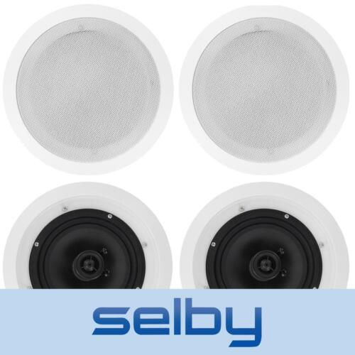 """4 x 8"""" In Ceiling Speakers 150W for Home Theatre Stereo Outdoor Multi Room"""