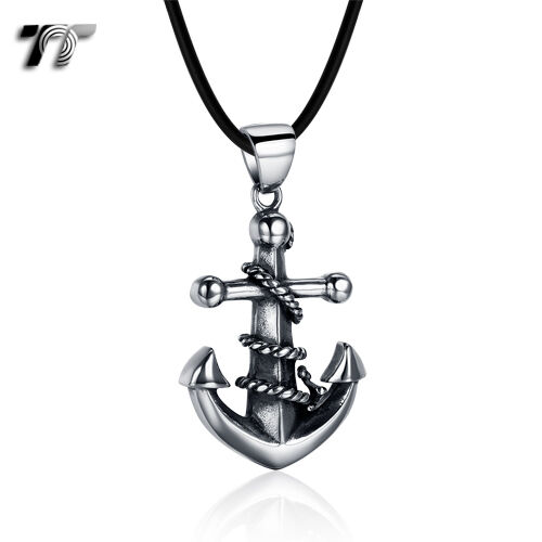 Quality Made TT 316 Stainless Steel Anchor Pendant Necklace (NP348) NEW