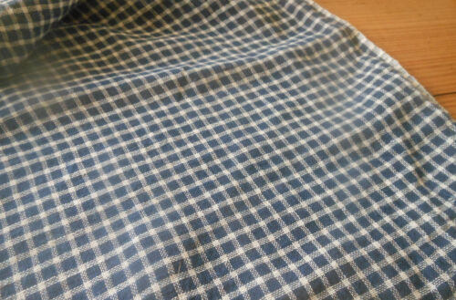 Antique 19thc Indigo Blue Homespun Cotton Fabric ~dolls quilts prim projects