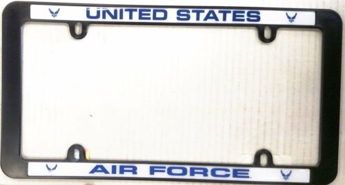 Air Force Black Plastic License Plate Frame Tag Cover United States MilitaryOther Militaria - 135