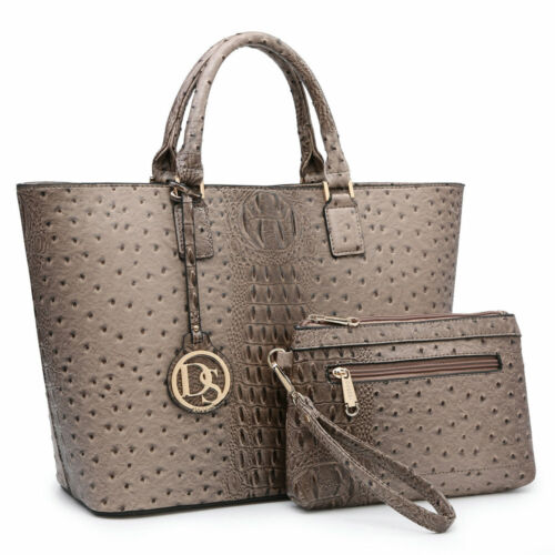 New Wendy Keen Womens Handbags Faux Leather Satchels Tote Bags Monogram Purse