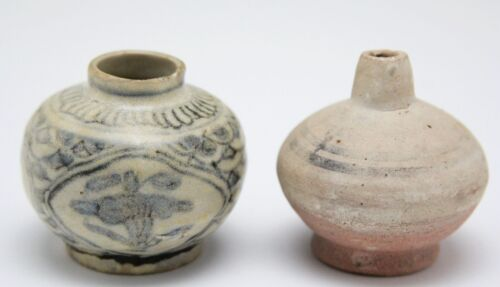 2x antique 15th C pottery, Than Hoa & Sukothai ceramic, Vietnam & Siam, China