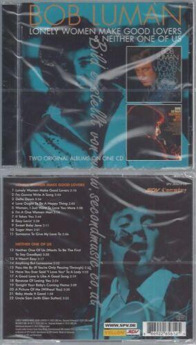 CD--NEITHER ONE OF US// LUMAN,BOB--LONELY WOMEN MAKE GOOD LOVERS