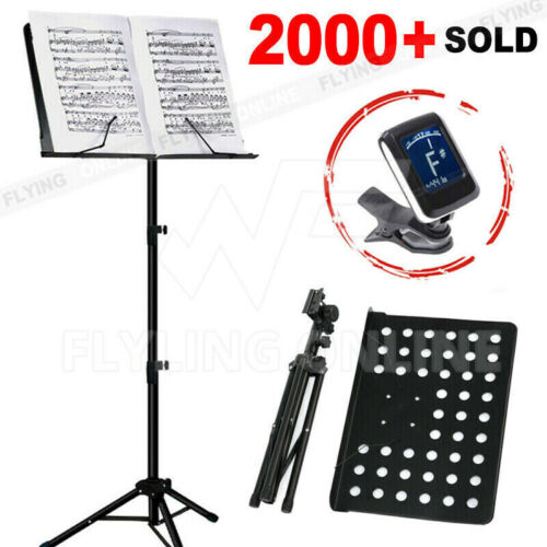 Heavy Duty Music Sheet Stand Adjustable Folding Large Professional Stage Black <br/> 100%GENUINE*Free Postage*NSW Stock