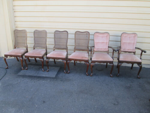 56151 T4:   Set 6 ETHAN ALLEN Cherry Dining Chairs Chair s