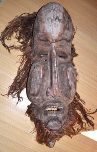 Old African Yaka Tribe Kakungu Mask Mukhanda Initiation Ceremony Congo, Africa