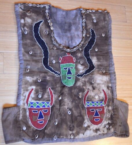 Antique Yoruba Diviner Sango Preist's Vest Protection Shirt Beads Nigeria Africa
