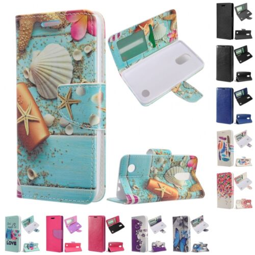 For LG Phoenix 3 / Fortune Wallet Case Phone Cover With ID Card Pocket Slots