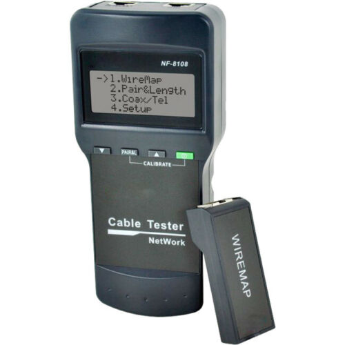 Doss RJ45 LAN Cable Tester Length Faults Locator Remote Identifier LCD NF8108