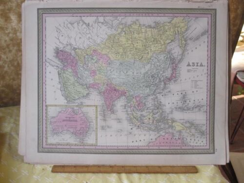 Vintage Print,ASIA,Johnson or Mitchell,c1850,Color