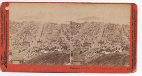 1880s Stereoview by Tabor of Panorama of San Francisco from Russian Hill