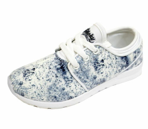 GIRLS KIDS CHILDRENS WHITE LACE-UP TRAINERS FLAT SPORTS PUMPS SHOES SIZES 10-5