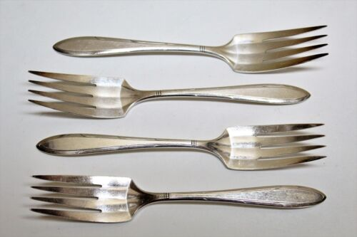 4 Nobility Plate Reverie Pattern Silverplate Flatware Salad Forks