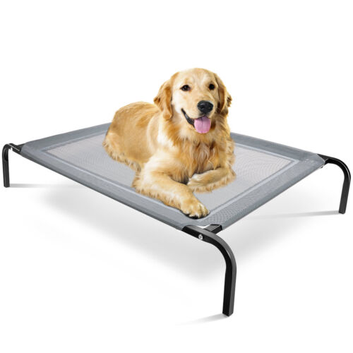 Elevated Dog Bed Lounger Sleep Pet Cat Raised Cot Hammock for Indoor Outdoor-MM