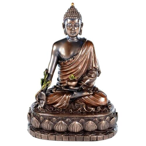 "MEDICINE BUDDHA STATUE 5.5"" Buddhist Deity HIGH QUALITY Health Meditation Bronze"