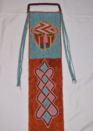 Yoruba Beaded Diviner's Panel Intricate Beadwork Wall Hanging Nigeria, Africa