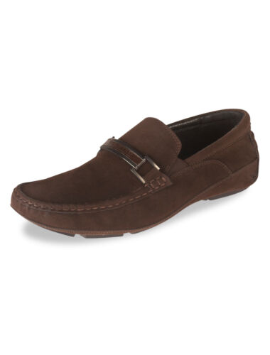 Kenneth Cole Mens Soft Driving Moccasins Tri-State Slip On Loafers Brown Shoes