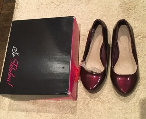 'So Fabulous' platform oxblood shoes, brand new In box, UK Size 4