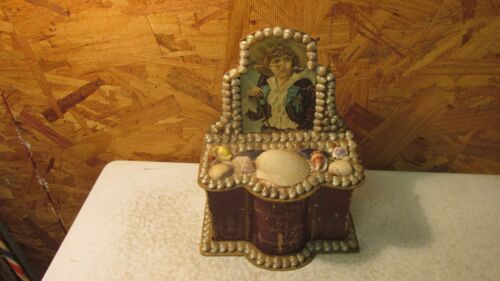 Antique Shell Art Chest