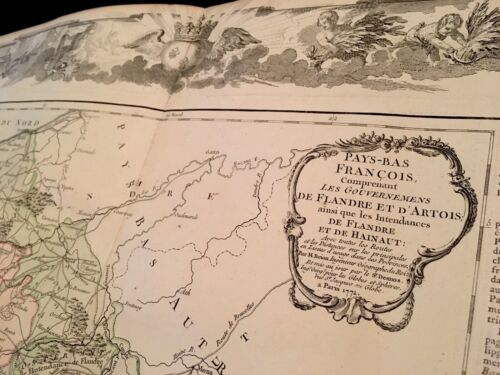 LUXERY EDITION MAP OF FLANDERS 1766