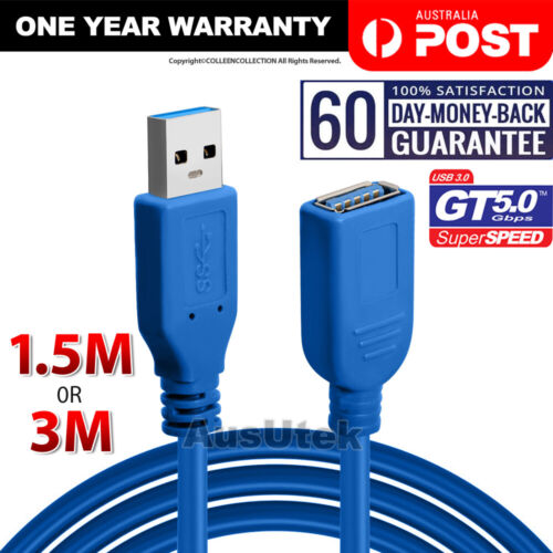 SuperSpeed USB 3.0 Male Female Data Cable Extension Cord For Laptop PC Camera