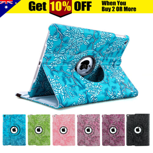 360 Leather Case Cover for Apple iPad 8 7 6 5 4 3 2 mini 5 4 3 2 Air 1 2 3 Pro